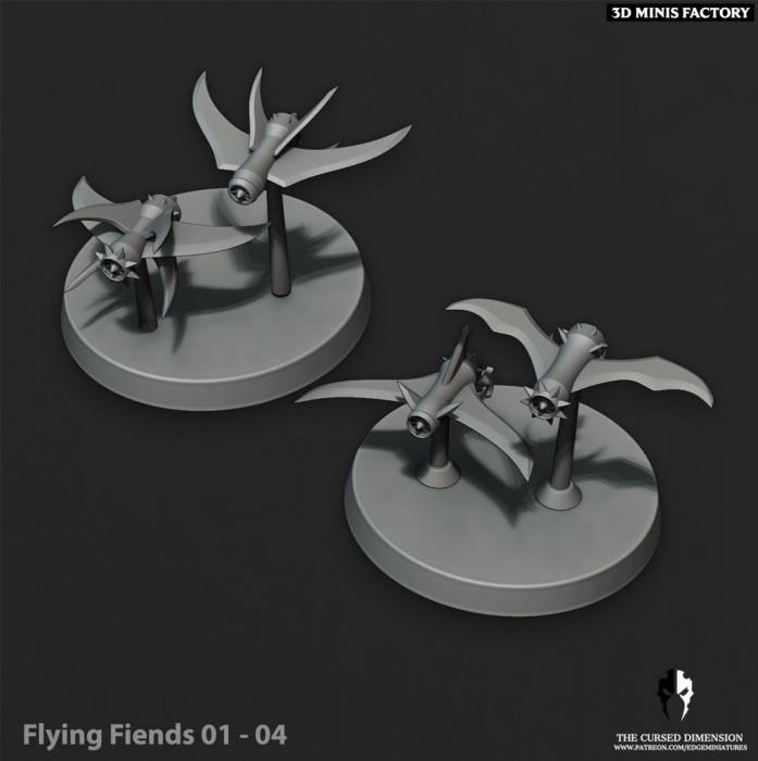 Flying Fiends des Cursed Elves créé par Edge Miniatures de 3D Minis Factory