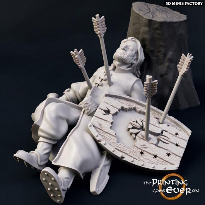 Defeated-Barazan des Communauté de l'Anneau créé par The Printing Goes On de 3D Minis Factory
