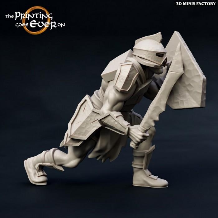 Half-Orc-Fighter des Chapter 10 - Death of a Hero créé par The Printing Goes On de 3D Minis Factory