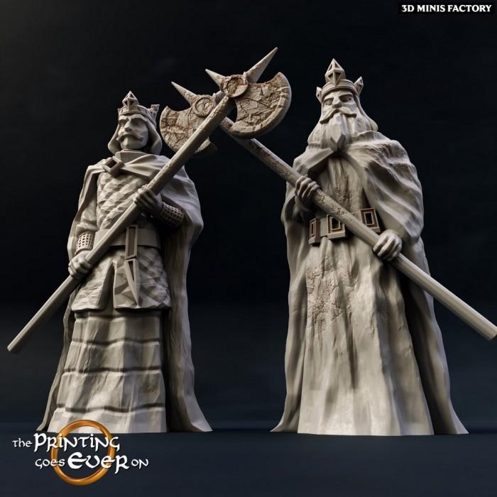 King-Statues 122mn des Bustes et Décors créé par The Printing Goes On de 3D Minis Factory
