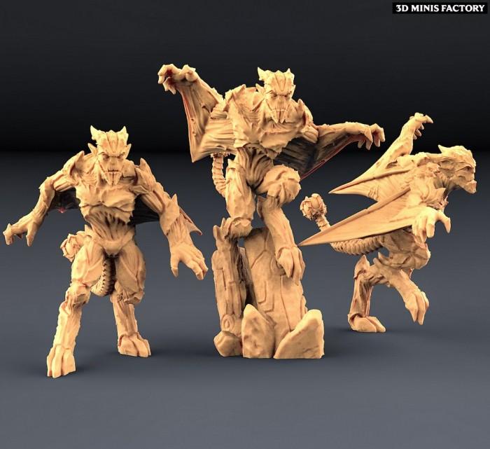 Gargoyles - Complete Set des Créatures créé par Artisan Guild de 3D Minis Factory