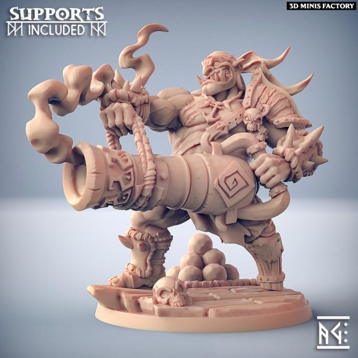 Gronk Boomshot des Ogre Marauders créé par Artisan Guild de 3D Minis Factory