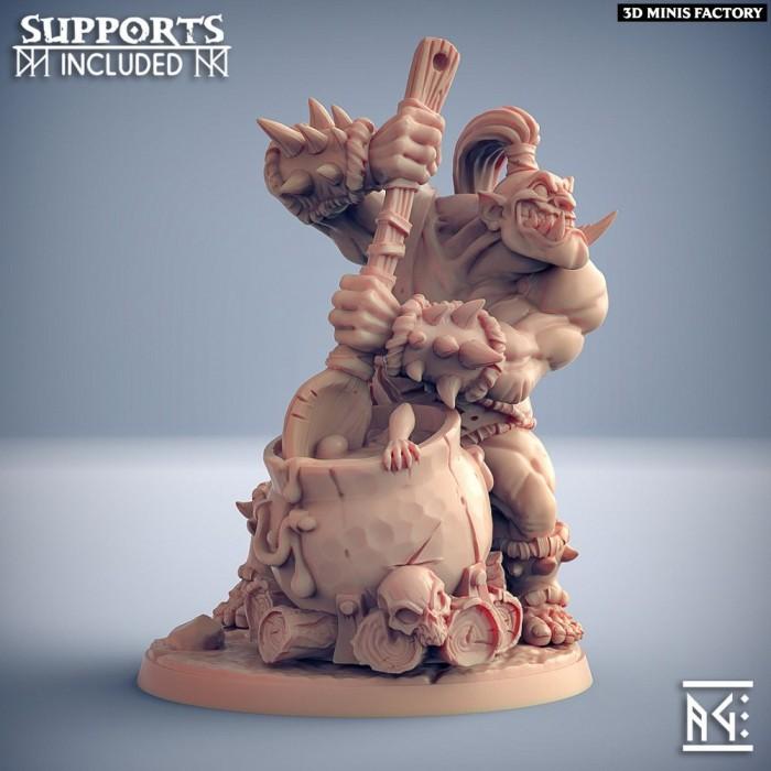 Burtz Dwarfstew des Ogre Marauders créé par Artisan Guild de 3D Minis Factory