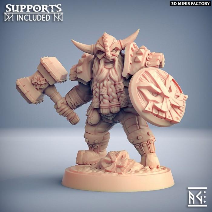 Dwarven Defender - A Modular des Dwarven Defenders créé par Artisan Guild de 3D Minis Factory