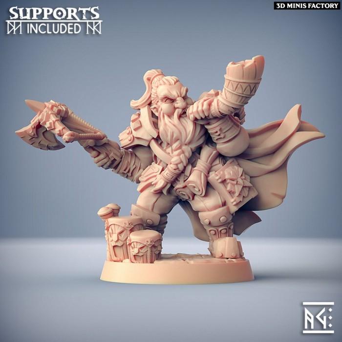 Flokir the Skald - Modular Dwarven Skald des Dwarven Defenders créé par Artisan Guild de 3D Minis Factory