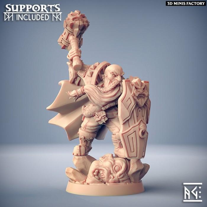 Alvar Giantslayer des Dwarven Defenders créé par Artisan Guild de 3D Minis Factory