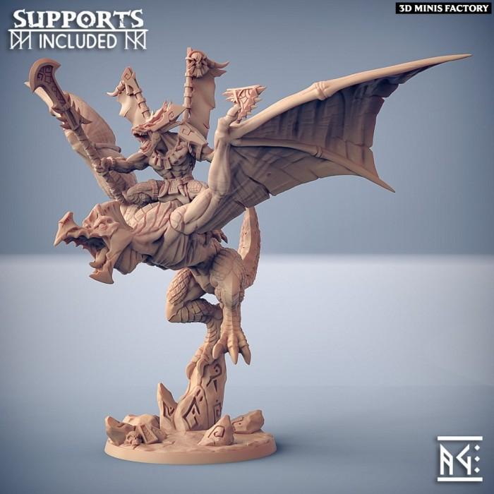 Xol'Toa on Sky-Terror des Goldmaw Lizards créé par Artisan Guild de 3D Minis Factory