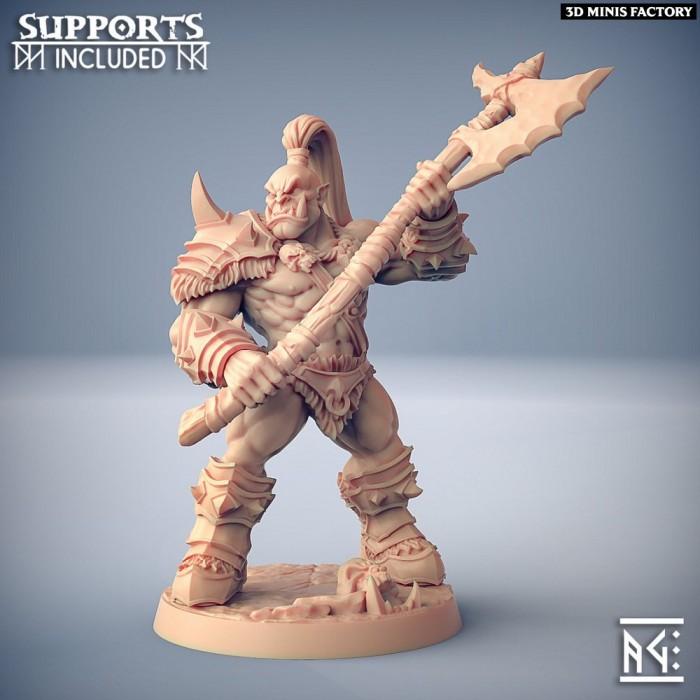 Orc Barbarian - B (Male) Modular des Orc Barbarian créé par Artisan Guild de 3D Minis Factory