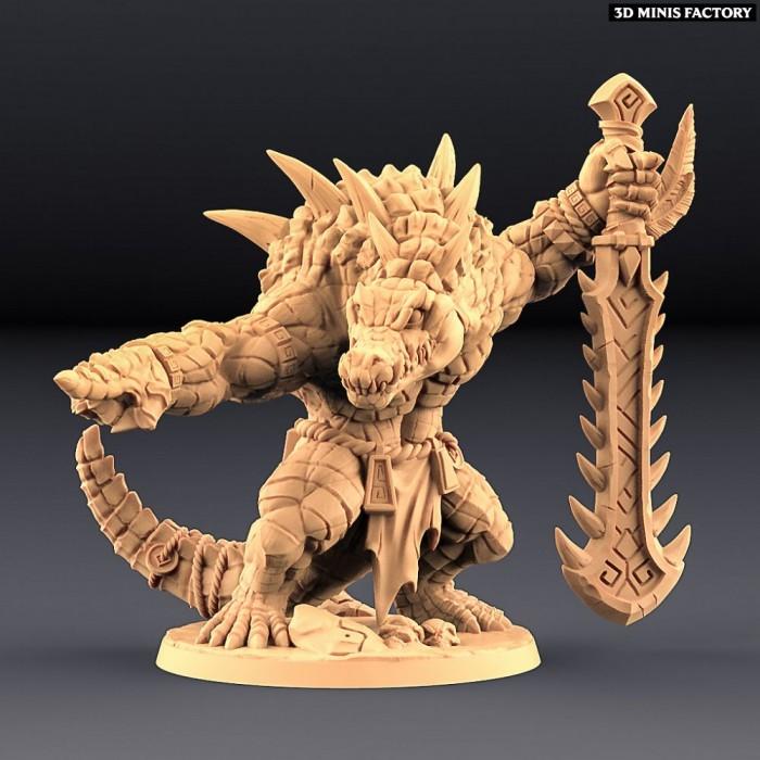Zantharot the Lizard Champion des Epic Bosses créé par Artisan Guild de 3D Minis Factory