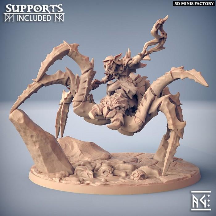 ZipZaap on Dread SkullSpider des Sparksoot Goblin créé par Artisan Guild de 3D Minis Factory