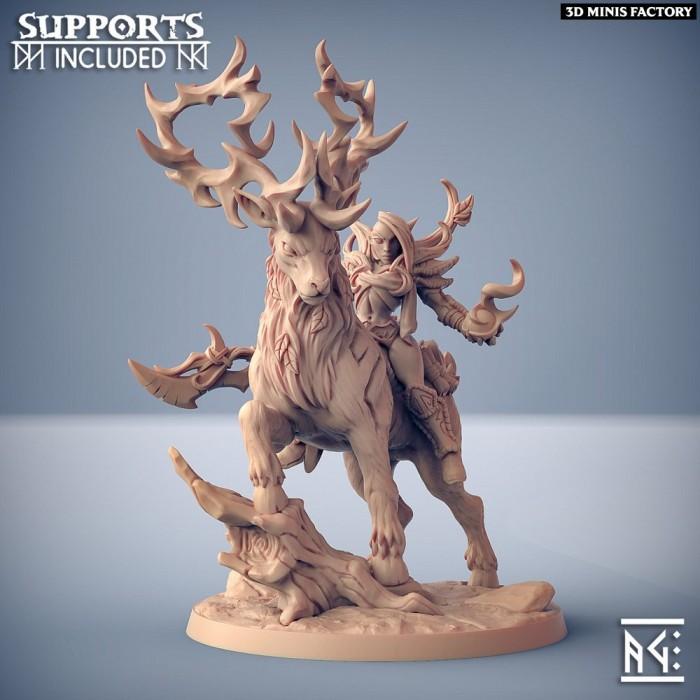 Endelshar on the Forest King des Deepwood Alfar créé par Artisan Guild de 3D Minis Factory