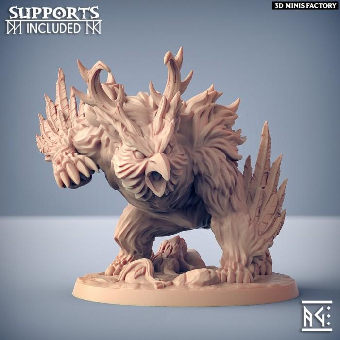 Uldar Druidical Beast Form des Deepwood Alfar créé par Artisan Guild de 3D Minis Factory
