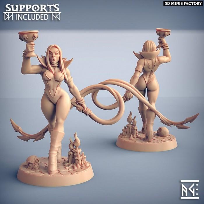 Maligna - Fantasy Pinup des Soulless Vampire créé par Artisan Guild de 3D Minis Factory