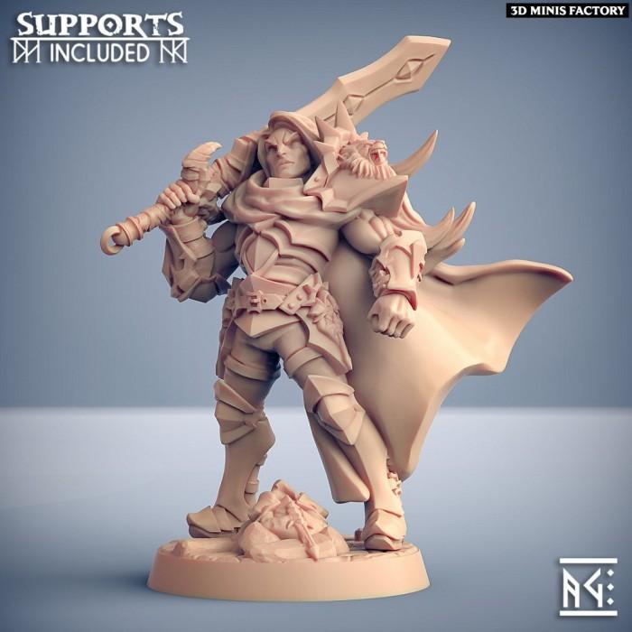 Sigfrido Dragonbane des Fighters Guild créé par Artisan Guild de 3D Minis Factory