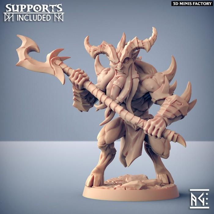 Abyss Demon Guardian - A des Abyss Demons créé par Artisan Guild de 3D Minis Factory