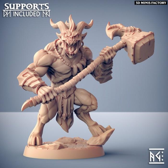 Abyss Demon Guardian - B des Abyss Demons créé par Artisan Guild de 3D Minis Factory