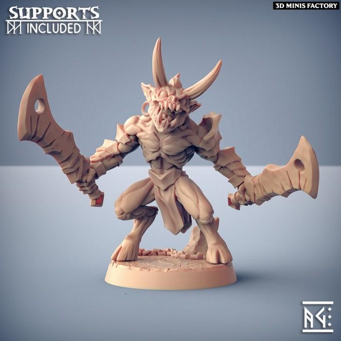 Abyss Demon Gruntiling - A des Abyss Demons créé par Artisan Guild de 3D Minis Factory