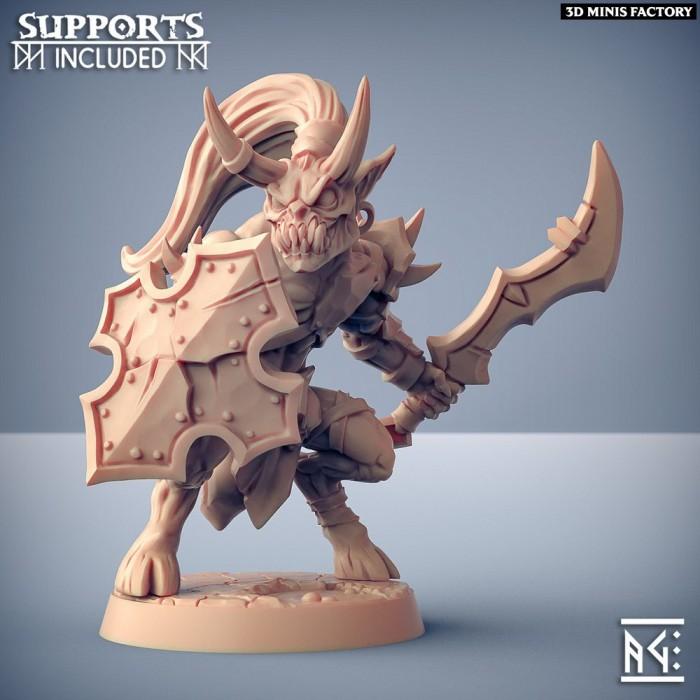 Abyss Demon Gruntiling - B des Abyss Demons créé par Artisan Guild de 3D Minis Factory