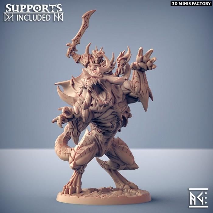 Ildamos on Rourazaak the Infernal des Abyss Demons créé par Artisan Guild de 3D Minis Factory