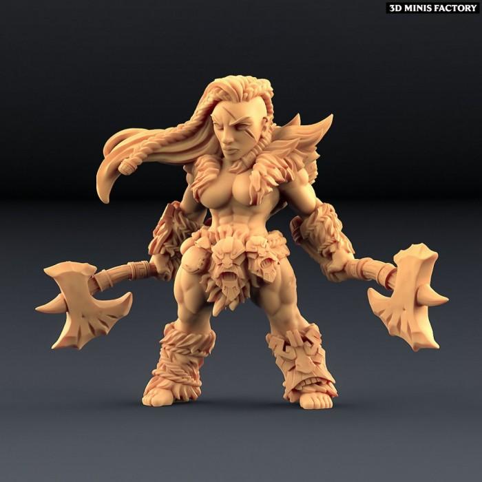 Hildara Bloodrage des Amazons KickStarter créé par Artisan Guild de 3D Minis Factory