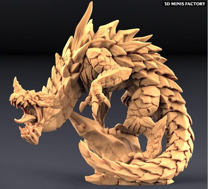Delani - Depths Dragon des Epic Bosses créé par Artisan Guild de 3D Minis Factory