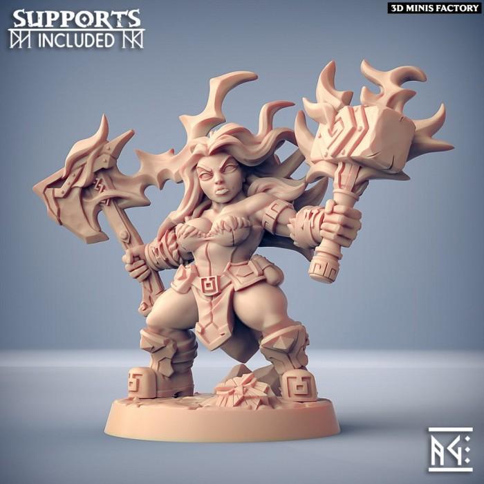 Helga Windfury des Dwarven Oathbreakers créé par Artisan Guild de 3D Minis Factory