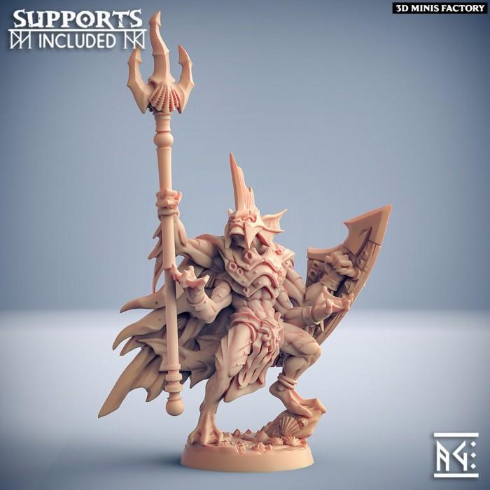 King Osteras, chosen of Holmuran des Death-Tide Jurakins créé par Artisan Guild de 3D Minis Factory