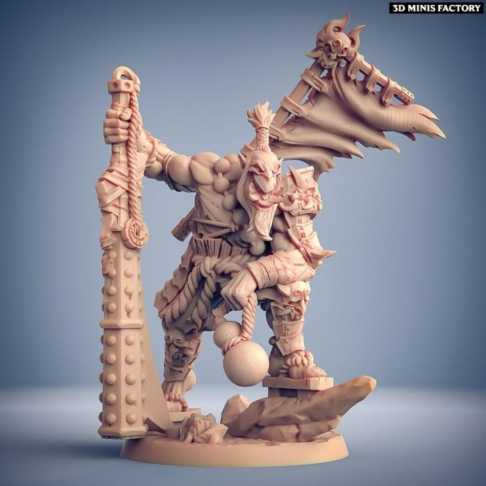 Yoshigruzu, the Clan Leader des Oni Clan créé par Artisan Guild de 3D Minis Factory