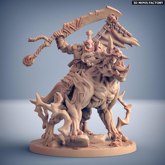 Yoshigruzu on Warugo the Oni Beast des Oni Clan créé par Artisan Guild de 3D Minis Factory