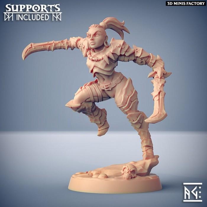Scourgeland Survivor - Modular F (lady) des Scourgeland Survivors créé par Artisan Guild de 3D Minis Factory