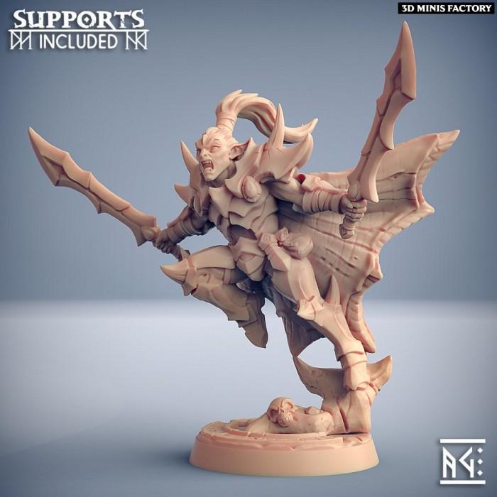 Khaladas Soulsplitter des Ashen Alfar Inquisitors créé par Artisan Guild de 3D Minis Factory