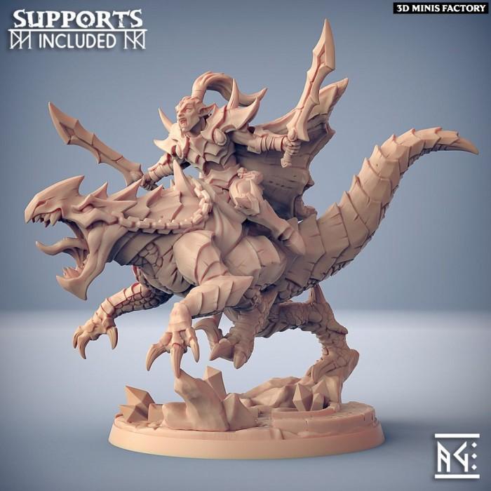 Khaladas on Morvagia the Drakeling des Ashen Alfar Inquisitors créé par Artisan Guild de 3D Minis Factory