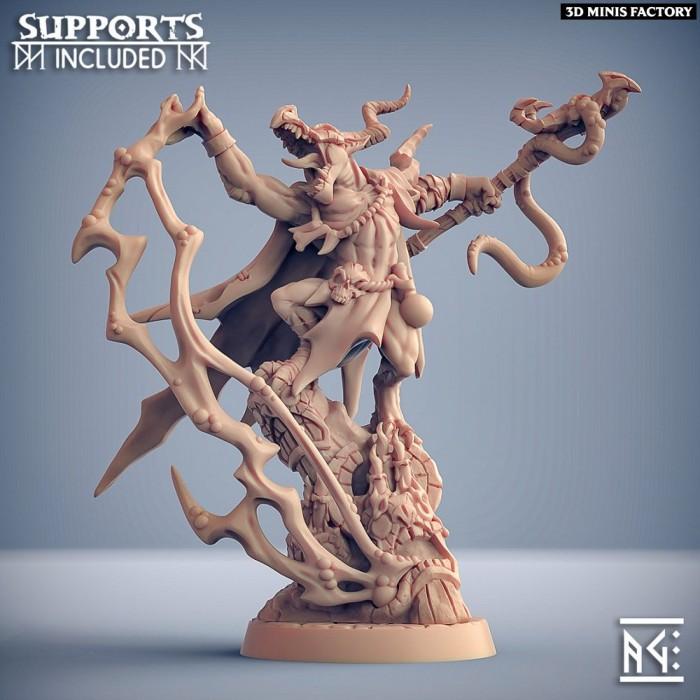 Kornutaaz the Plaguemancer des Plague-Mine Kobolds créé par Artisan Guild de 3D Minis Factory