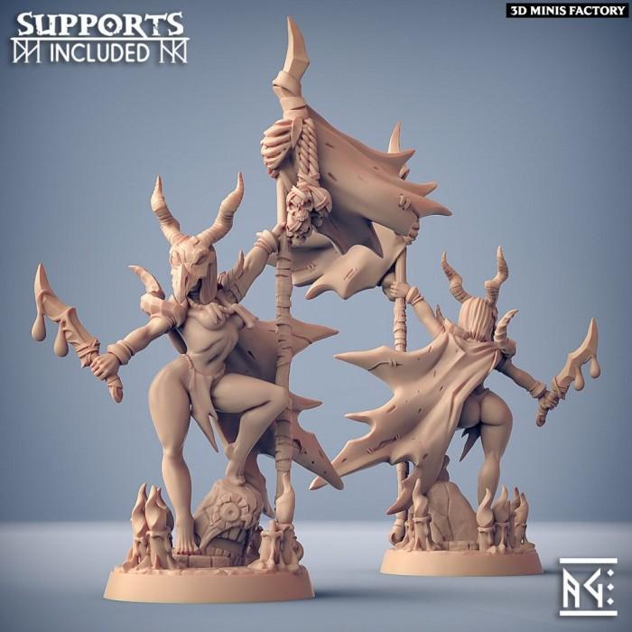 Plague-Mine Kobolds Hero - Fantasy Pinup des Plague-Mine Kobolds créé par Artisan Guild de 3D Minis Factory