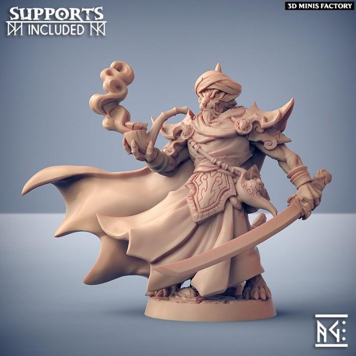 Namur Makir- Rakshakin Headhunters Hero des Rakshakin Headhunters créé par Artisan Guild de 3D Minis Factory