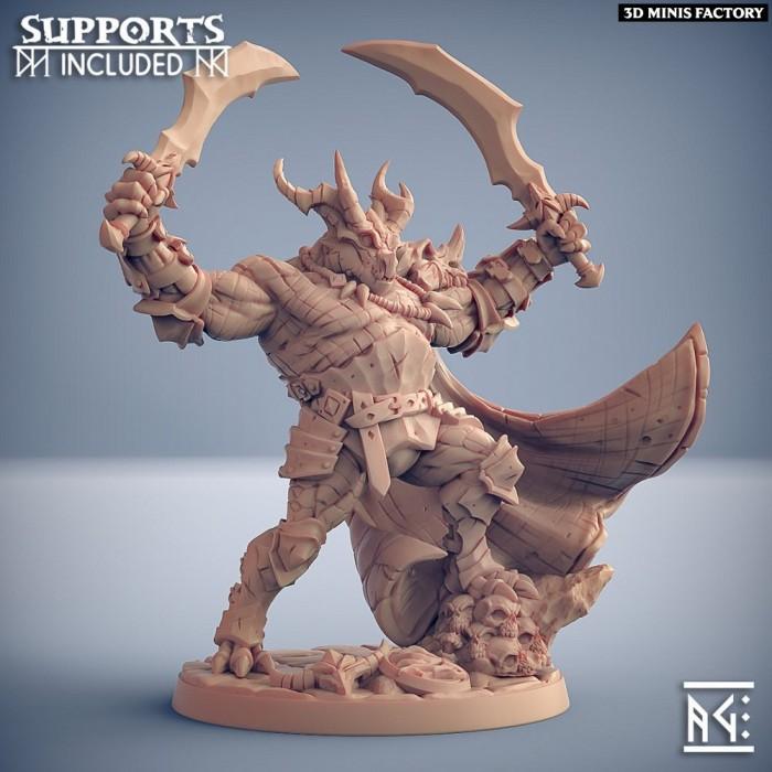 Nasmaraax the Destroyer des The Dragonguard créé par Artisan Guild de 3D Minis Factory