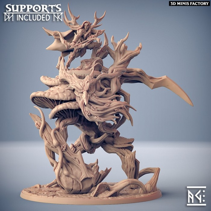 Feralia on Ancient Forest Primordial (Beast & Mount) des Sylvan Knight créé par Artisan Guild de 3D Minis Factory