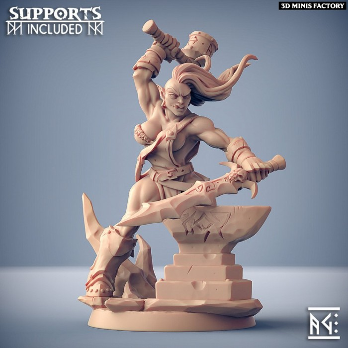 Frostmetal Clan Hero - Fantasy Pinup des Frostmetal Clan créé par Artisan Guild de 3D Minis Factory