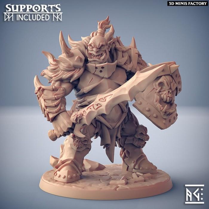 Frostmetal Clan Ogre - Modular D des Frostmetal Clan créé par Artisan Guild de 3D Minis Factory