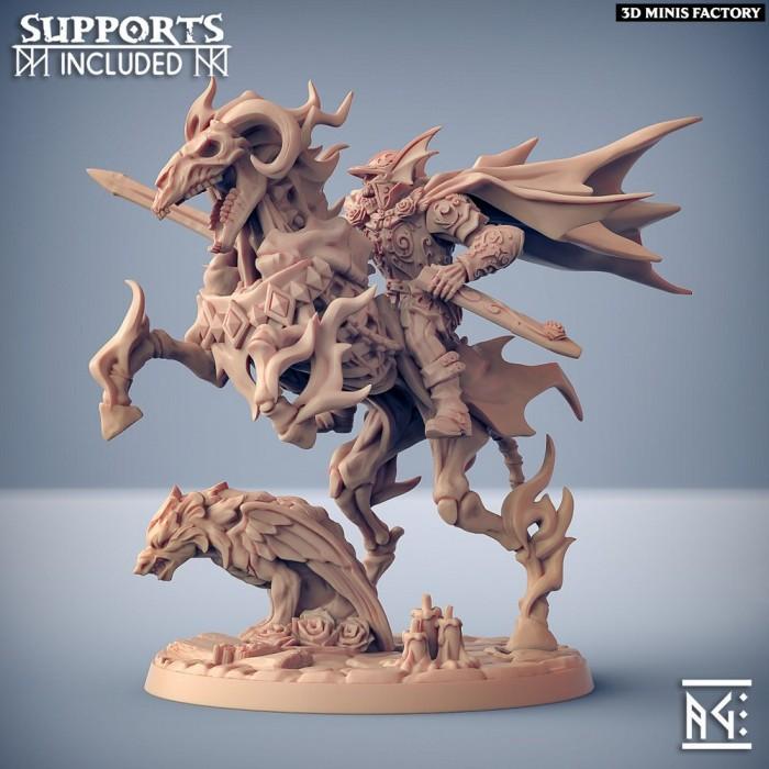Harguul on Azekiel the Nightmare des Oldburg Fallen Ones créé par Artisan Guild de 3D Minis Factory