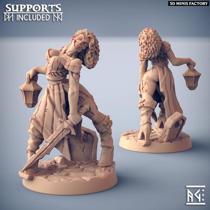 Oldburg Fallen Ones Hero - Fantasy Pinup des Oldburg Fallen Ones créé par Artisan Guild de 3D Minis Factory