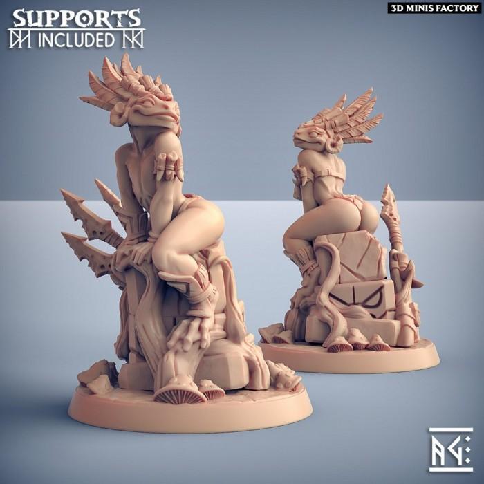 Swamp Gurunda Hero - Fantasy Pinup des Swamp Gurunda créé par Artisan Guild de 3D Minis Factory