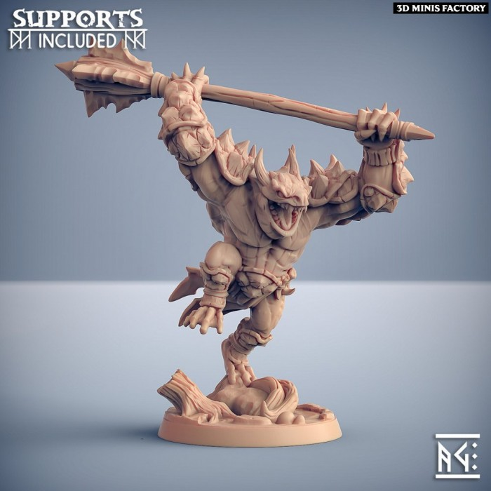 Bull Gurunda - Modular F des Swamp Gurunda créé par Artisan Guild de 3D Minis Factory