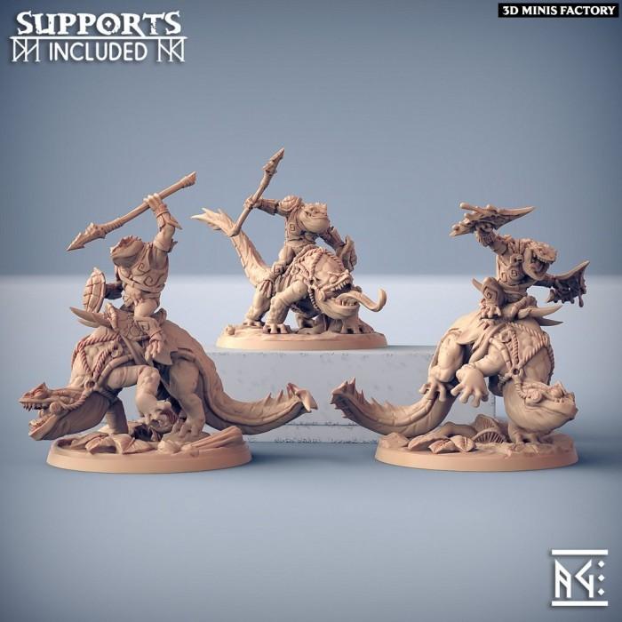 Salamander Riders des Swamp Gurunda créé par Artisan Guild de 3D Minis Factory