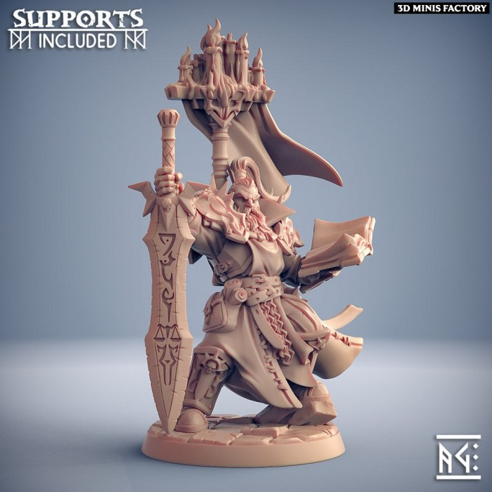 Lord Commander Casymir des Requiem Brotherhood créé par Artisan Guild de 3D Minis Factory