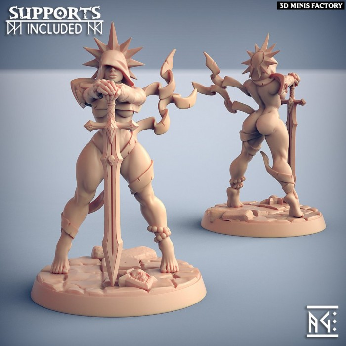 Requiem Brotherhood Hero - Fantasy Pinup des Requiem Brotherhood créé par Artisan Guild de 3D Minis Factory