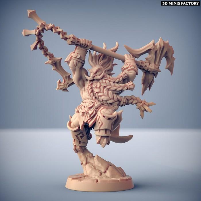 Gundrof Ragingfire des Dumlok Flameseekers créé par Artisan Guild de 3D Minis Factory