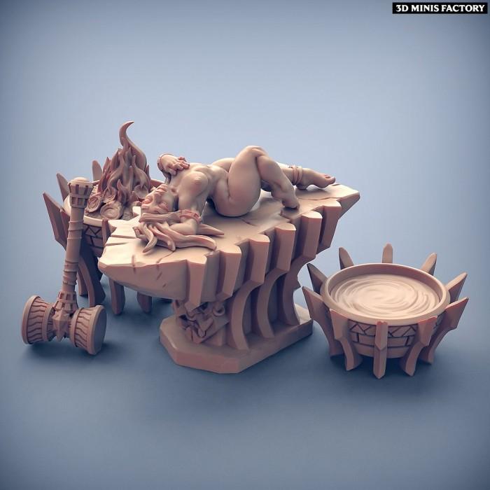 Fiamma the Oracle des Dumlok Flameseekers créé par Artisan Guild de 3D Minis Factory