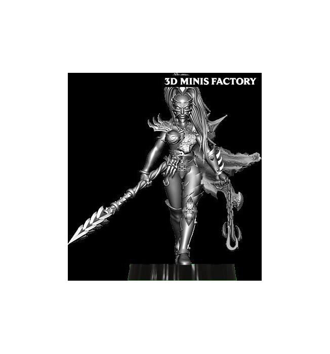 Dark Elf Princess 3 des Dark Elf créé par Avatars of War de 3D Minis Factory