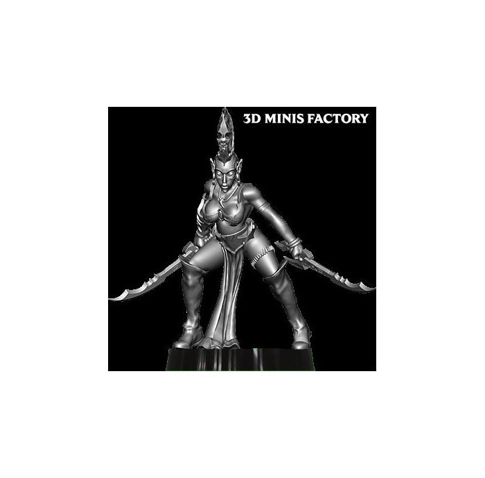 Dark Elf Princess 7 des Dark Elf créé par Avatars of War de 3D Minis Factory